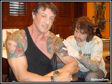 The Tattoos of Sylvester Stallone